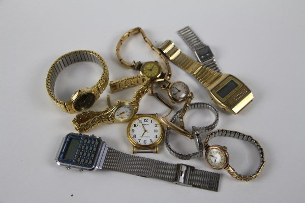 LOT OF MENS AND LADIES VINTAGE WATCHES