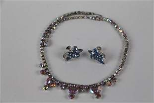 SHERMAN NECKLACE WITH UNMATCHED EARRINGS