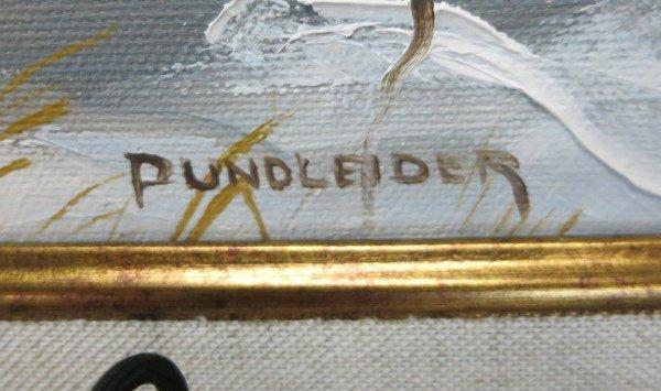 HEINZ V. PUNDLEIDER - OIL ON CANVAS - 2