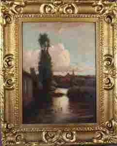 JOHN HAMMOND - OIL ON BOARD