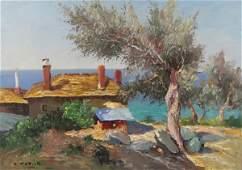 ARMENO MATTIOLI - OIL ON BOARD