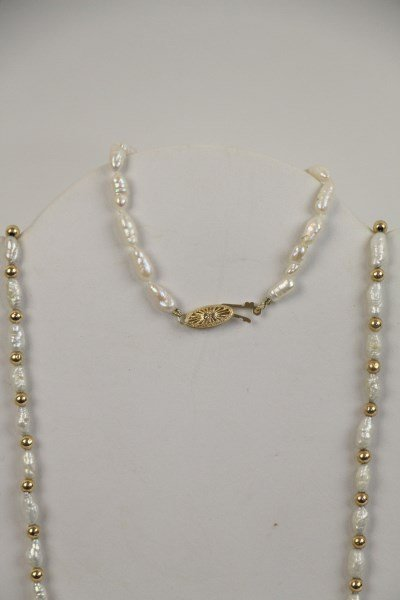 SEED PEARL NECKLACE WITH MATCHING BRACELET