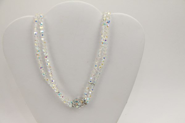 SHERMAN BRILLIANT MULTI-HUED CRYSTAL NECKLACE