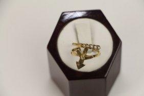 Two 14k Yellow Gold Ladies Rings
