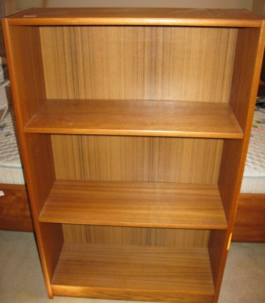 TEAK THREE TIER BOOKCASE