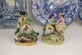 Pair Of Staffordshire Figurines