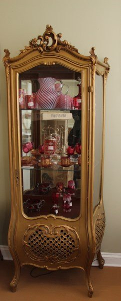 Turn Of The Century Gilded Display Cabinet