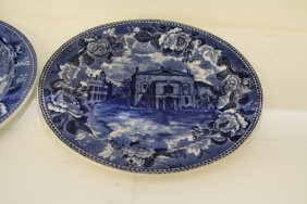Two Vignette Blue Transfer Ware Plates