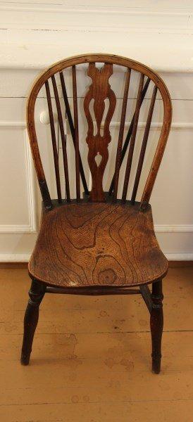 Early English Windsor Style Elm Side Chair