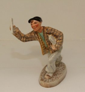 "Wedgwood Figurine - ""newspaper Boy"""
