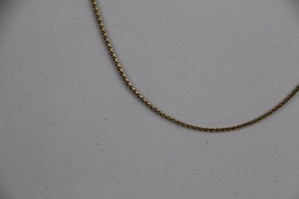 "14K YELLOW GOLD WHEAT LINK CHAIN NECKLACE - 18"" L"