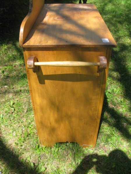 PINE AND BUTTERNUT WASHSTAND WITH PAINTED DOOR - 2
