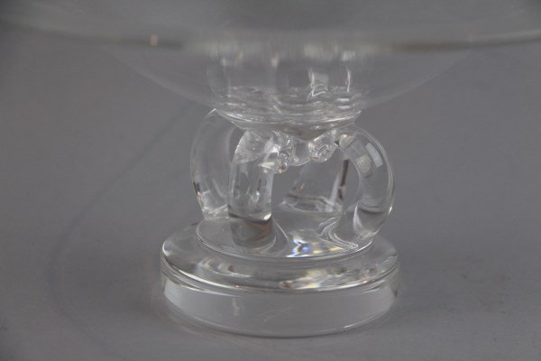SIGNED STEUBEN LARGE CRYSTAL FOOTED BOWL - 2
