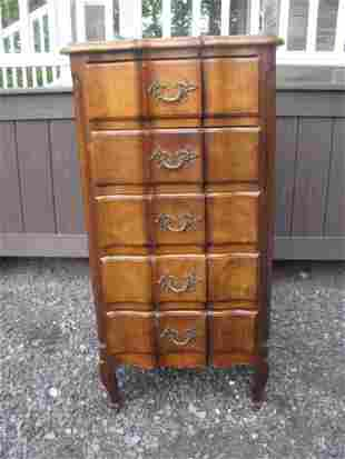 COUNTRY FRENCH STYLE FIVE DRAWER CHEST