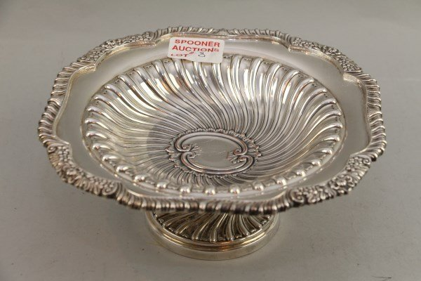 SHEFFIELD PLATE FOOTED SERVING DISH