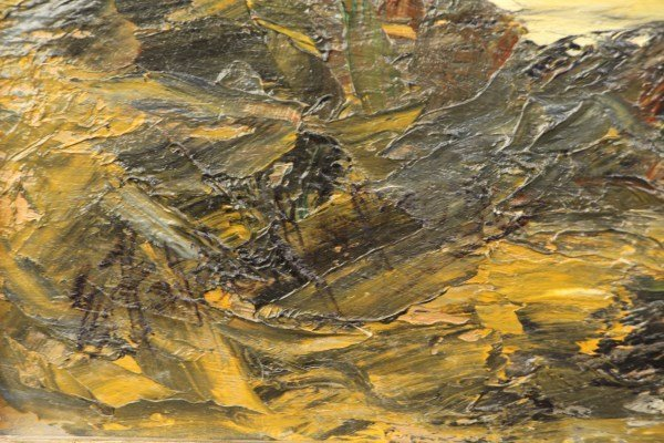 OIL ON CANVAS - SIGNED LOWER LEFT, INDISTINCT - 2