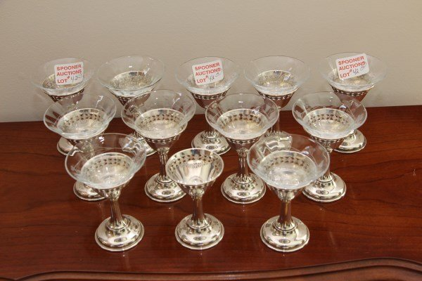 11 BIRKS STERLING SHERBETS WITH BASES + 1 EXTRA
