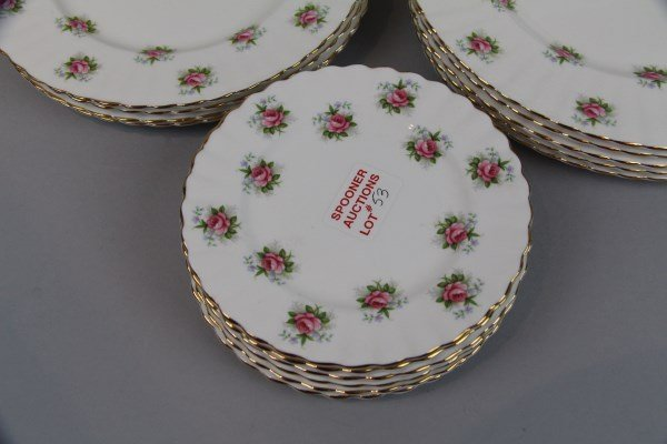 "LOT OF 17 ROYAL ALBERT ""FORGET ME NOT"" PLATES - 2"