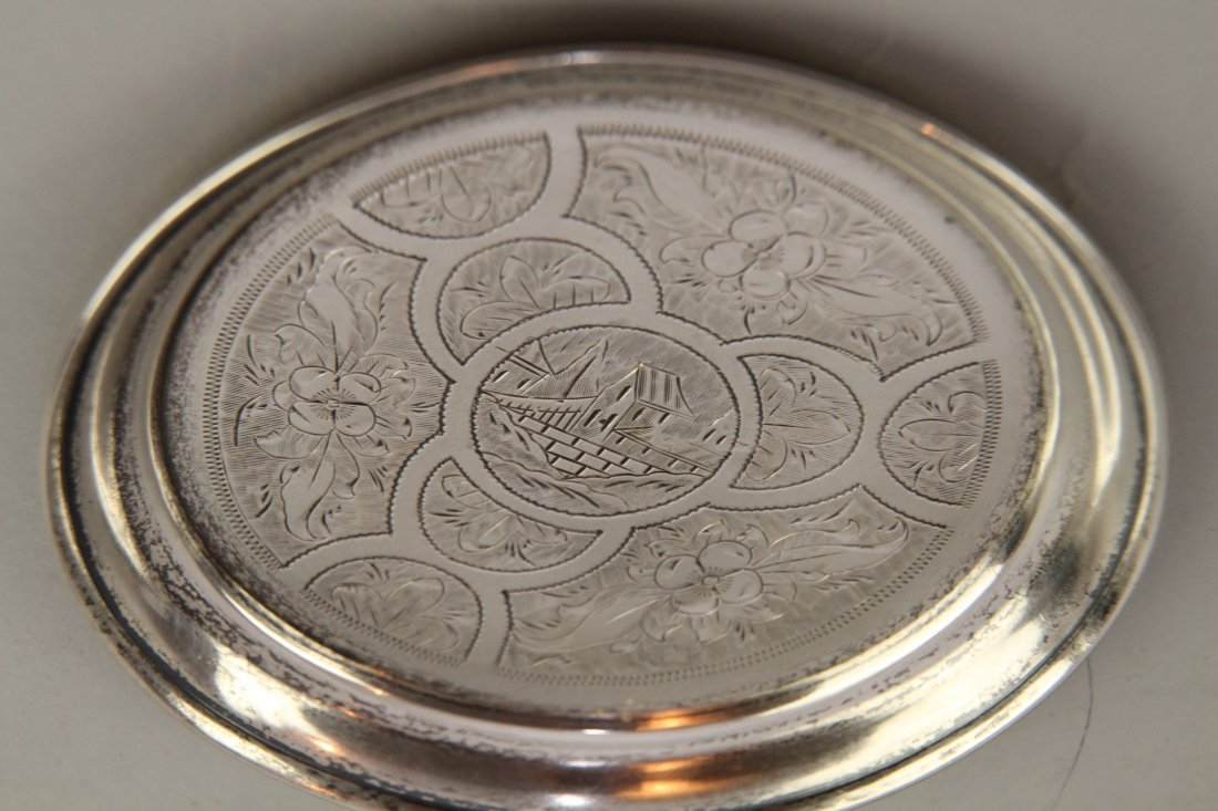 RUSSIAN/TURKISH SILVER TRAY - 3
