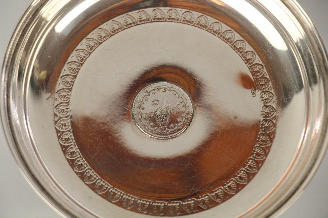 RUSSIAN/TURKISH SILVER SHALLOW TRAY