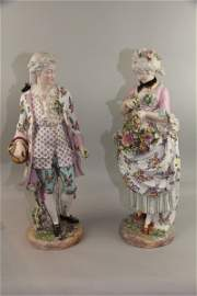 PAIR OF EXCEPTIONAL MATCHING MEISSEN FIGURINES