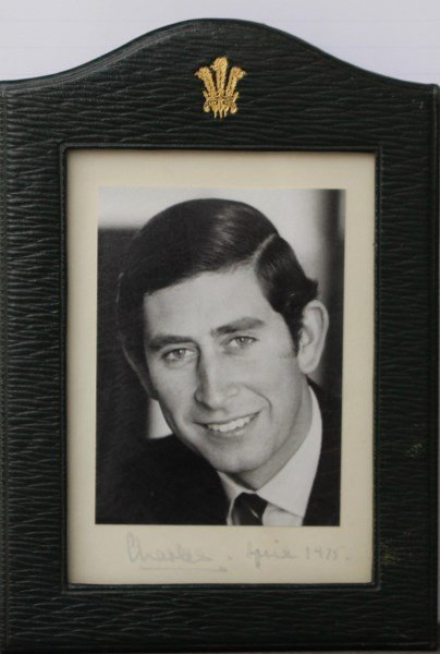 SIGNED PHOTO OF CHARLES PRINCE OF WALES