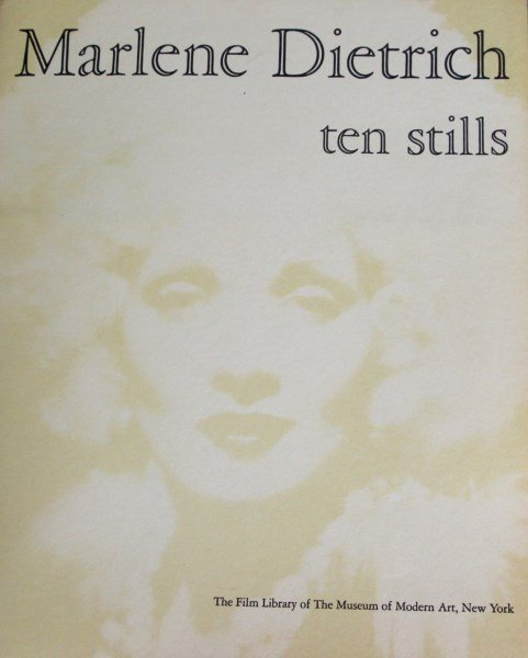 MARLENE DIETRICH  - TEN STILLS