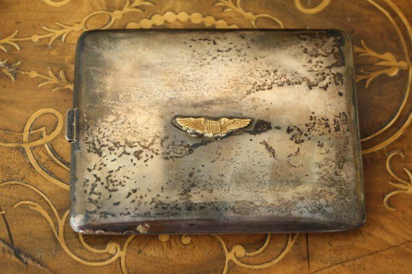 MACHINE TOOLED STERLING CIGARETTE CASE