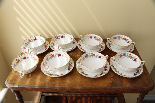 ROYAL CROWN DERBY BOUILLONS - CHATSWORTH PATTERN