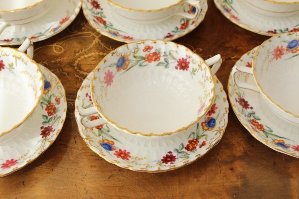 ROYAL CROWN DERBY BOUILLONS - CHATSWORTH PATTERN - 2