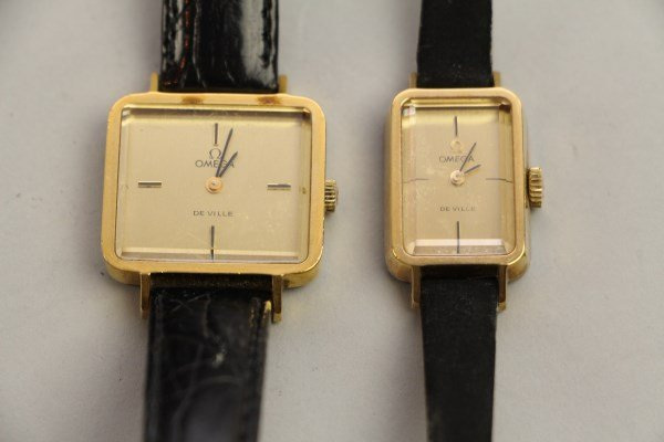 PAIR OF LADIES VINTAGE OMEGA WATCHES