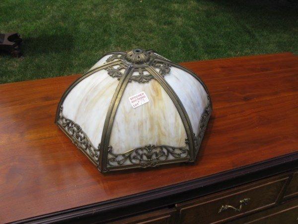 CARAMEL SLAG GLASS LAMP SHADE