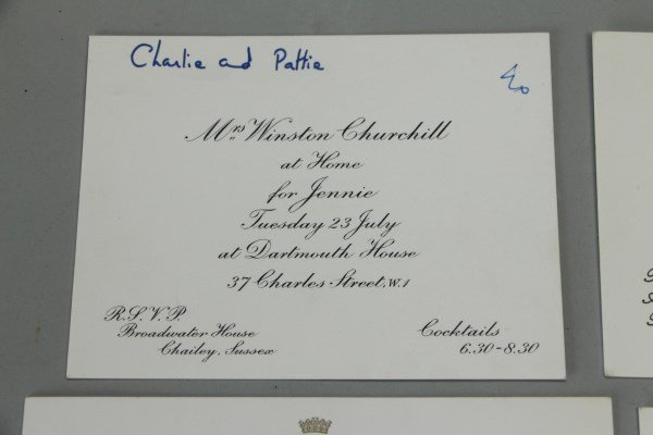 FOUR INVITATIONS FROM MRS. WINSTON CHURCHILL - 2
