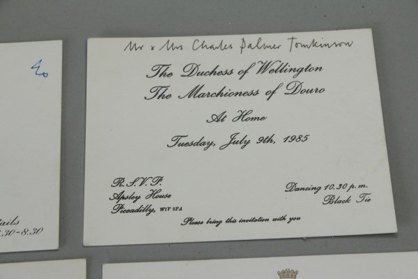 FOUR INVITATIONS FROM MRS. WINSTON CHURCHILL - 3
