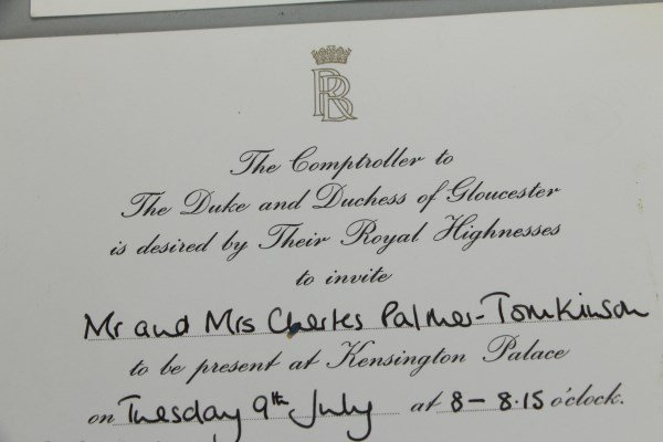 FOUR INVITATIONS FROM MRS. WINSTON CHURCHILL - 4