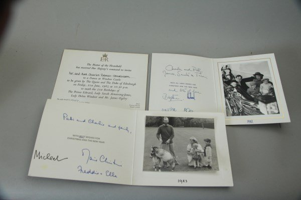 FOUR INVITATIONS FROM MRS. WINSTON CHURCHILL - 5