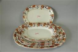 SIX GRADUATED WEDGWOOD PLATTERS LIVINGSTONE
