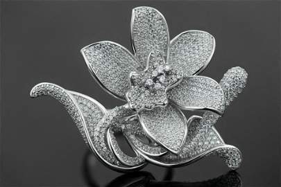 White Gold Plated 925 Sterling Silver CZ Ring