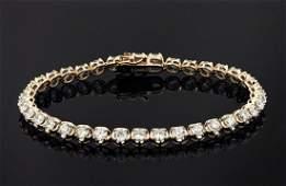 14K Rose Gold 6.12ct Diamond Bracelet