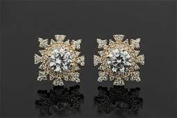 Rose Gold Plated 925 Sterling Silver CZ Earrings