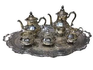 Gorham Strasbourg Silver (6) Pc. Tea Set