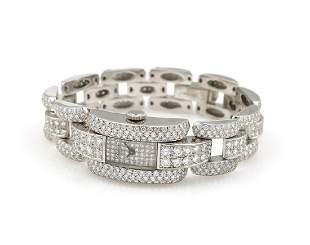 Chopard 18K WG La Strada Full Diamond Watch