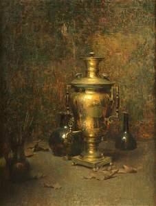 Dines Carlsen (American, b.1901-1966) Samovar Oil