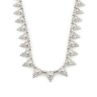 Judith Ripka Mini Dew Drop Diamond Necklace 18K WG