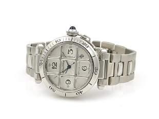 Cartier Pasha 2379 Grid Silver Dial