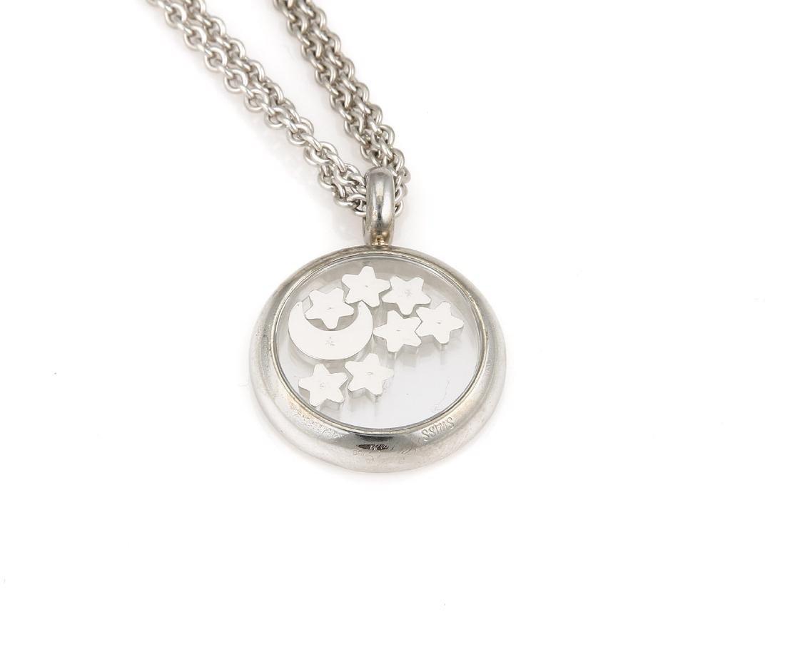 18K Chopard Happy Diamonds Moon & Stars Necklace - 5