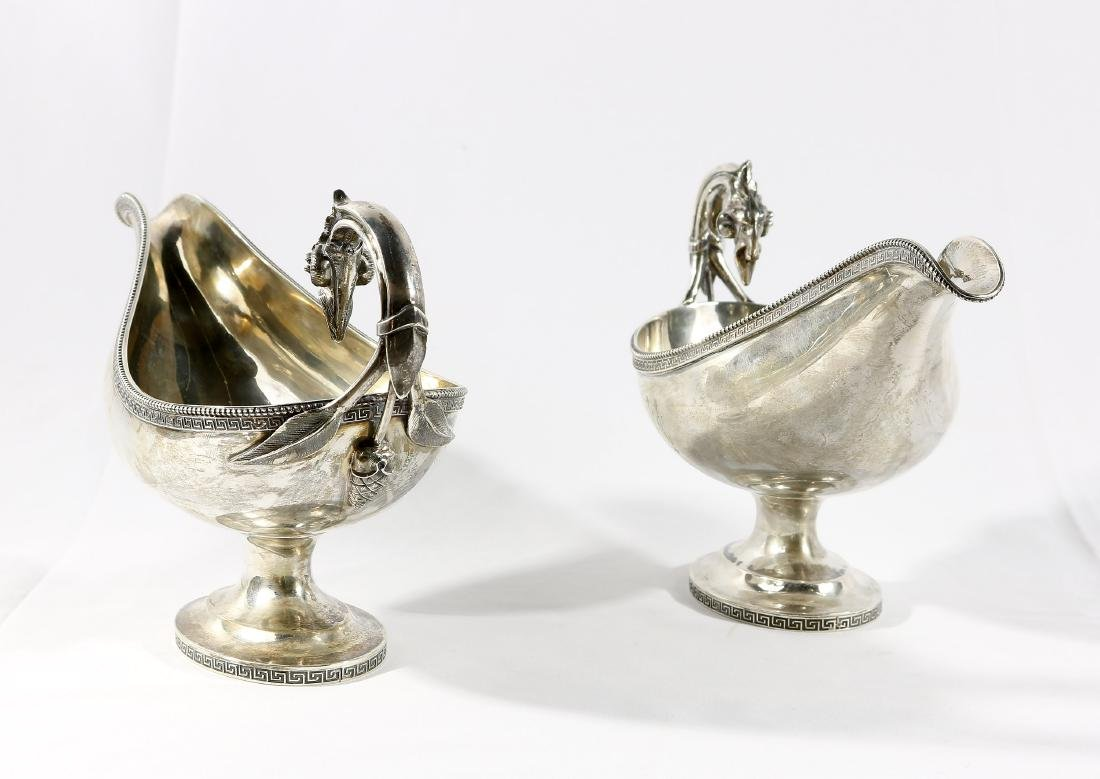Tiffany & Co. Sterling Gravy Boats Circa 1865 - 2