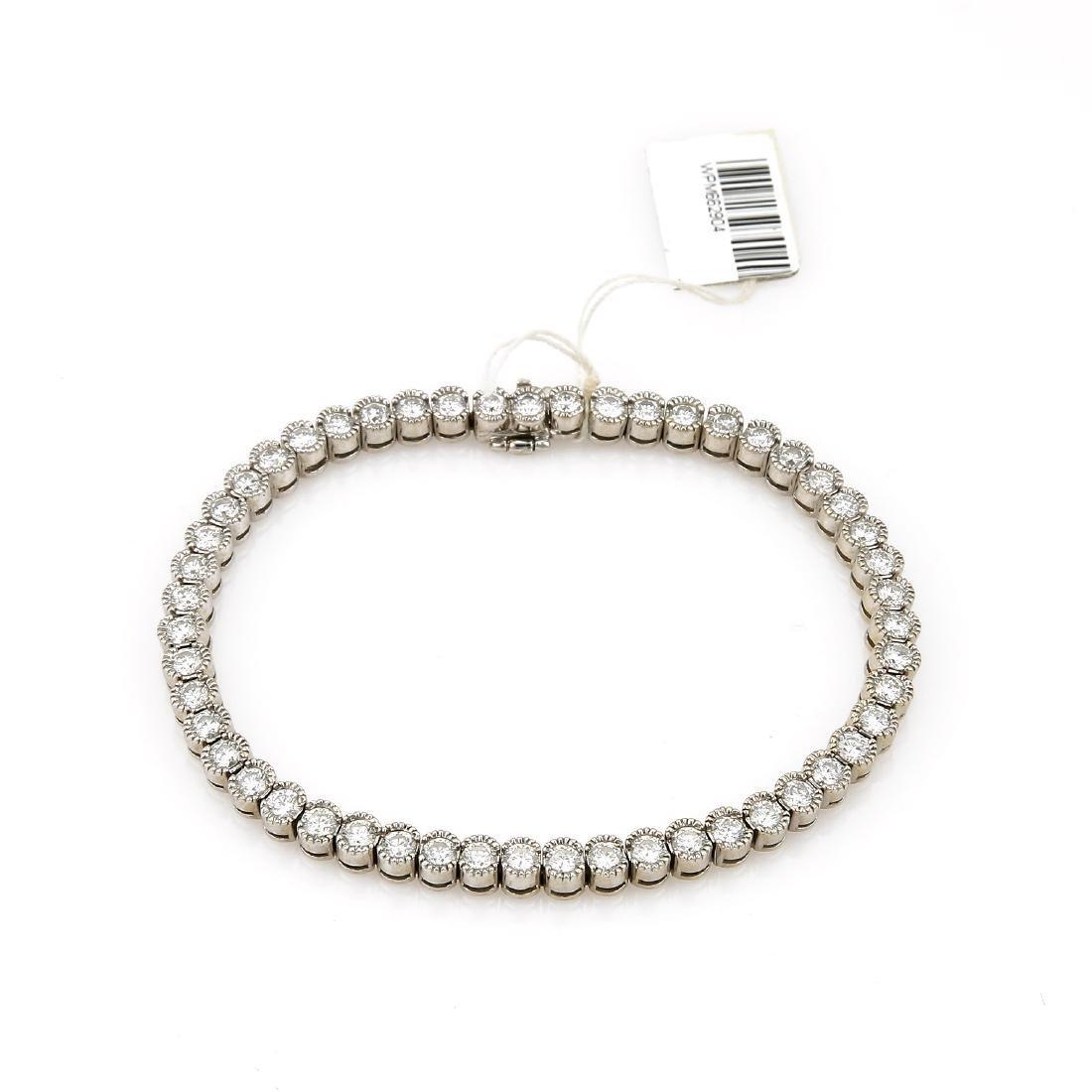 18k White Gold Diamond Tennis Bracelet - 2