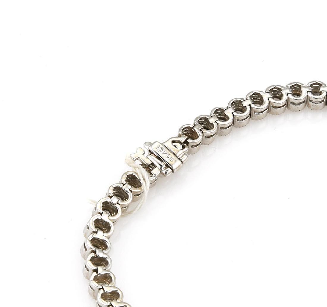 18k White Gold Diamond Tennis Bracelet - 3