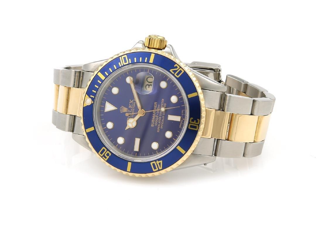 Rolex Submariner Two Tone Blue Watch